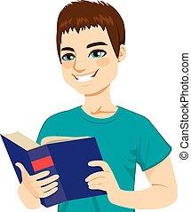 Der Mann liest gern.
