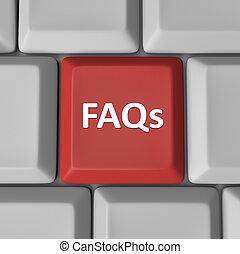 Der rote Tastaturschlüssel stellt häufig Fragen