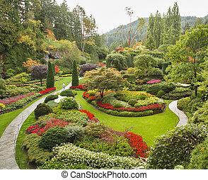 Der versunkene Gärtner auf der Insel Vancouver