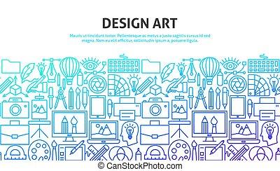 design, begriff, kunst