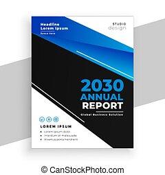 design, blaues, schwarz, bericht, broschüre, geschaeftswelt, stilvoll, jährlich