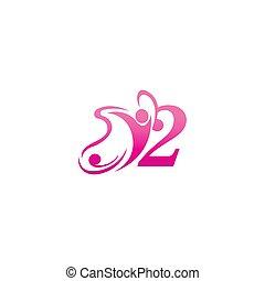 design, papillon, abbildung, 2, menschliche , ikone, logo, zahl, erfolg
