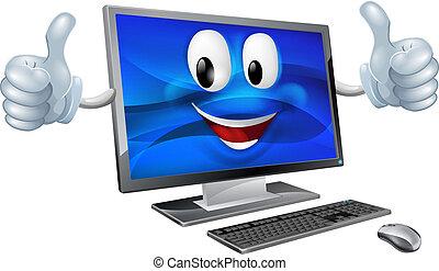 desktop-computer, maskottchen