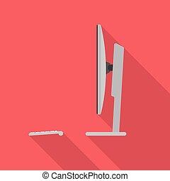 Desktop-Computer-seitige Ansicht