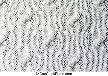 Detail der gewebten handwerklichen Strickjacke