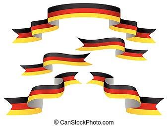 Deutschland Flaggenbanner.