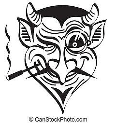 Devil satanische Teufels-Böseklammer-Artgrafik