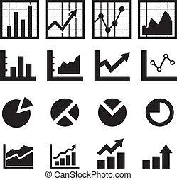 diagramm, tabelle, ikone