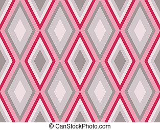 Diamonds nahtloses Retro abstraktes Muster