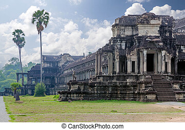 Die alte Architektur des angkor wat Tempels in Kambodia
