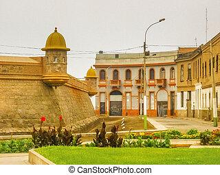 Die echte felipe Festung in lima peru