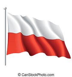 Die Flagge von Poland