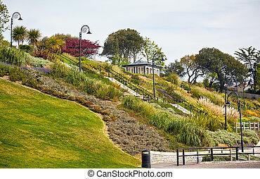 Die Gärten am Meer von Lyme regis. West Dorset. England