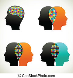 Die Leute reden, denken, kommunizieren