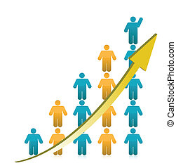 Die Leute zeigen Wachstum