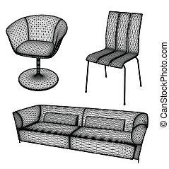 Die Möbel haben Vektor illustriert