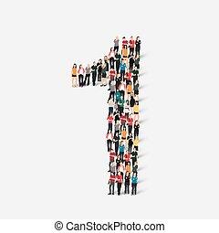 Die Menschen bilden die Nummer eins