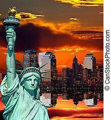 Die New York City Skyline