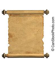 Die Schriftrolle des alten Pergaments