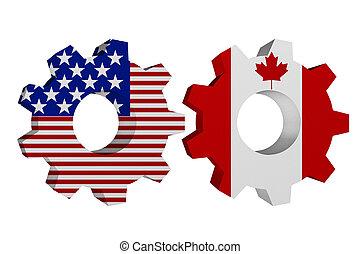 Die USA arbeiten mit Kanada.