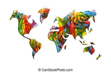 Die Weltkarte der Weltkarte.