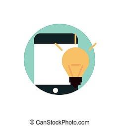 digital, marketing, idee, kreativität, smartphone