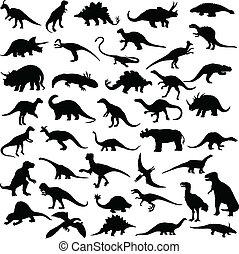 dinosaurierer, reptilien