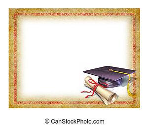 diplom, studienabschluss, leer