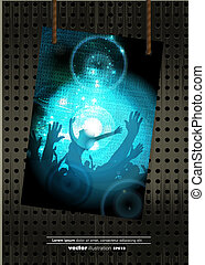 Disco-Event Hintergrund.
