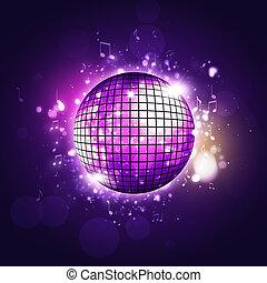 disko, retro, party, kugel