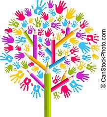 Diversity-Bäume-Hände