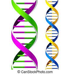DNA-Stränge. Leicht.
