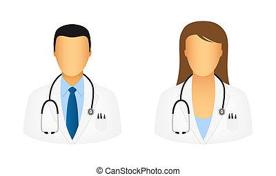 doktor, heiligenbilder