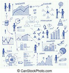 Doodle Business Charts infografische Elemente