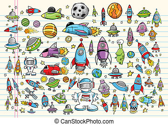 Doodle Raumvektor-Entwicklungsset
