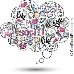 Doodle Social Media Infographics.