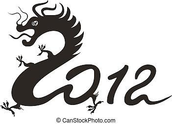 Drachenjahr 2012. Chinesisches Zodiac