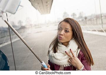 Junge selfie hübscher Finden Sie