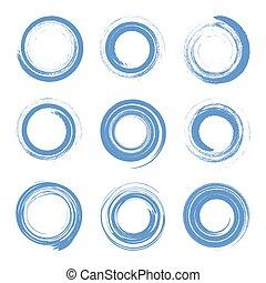 drehen, effect., schlag, spirale, motion., kreisförmig, elemente, design, bürste