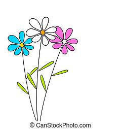 Drei Blumen.