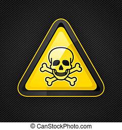 dreieck, metall, oberfläche, zeichen, warnung, gefahr, giftig