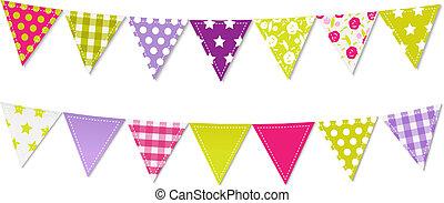 Dreieckige Flaggen