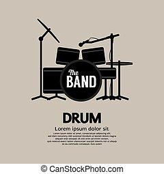 Drum Set Musikinstrument.