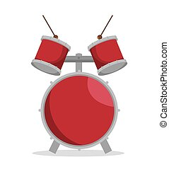 Drum Set Musikinstrument Design Icon.