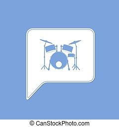 Drummer Set Musikinstrument.