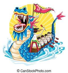 duanwu, schlangenwurzbootsfest