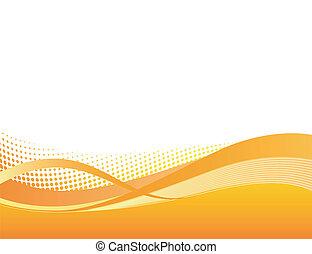 Dynamische Orangen-Hintergrund