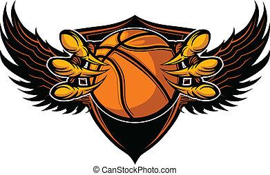 Eagle-Basketball-Talons und Klauenvektor-Illustration