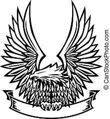 Eagle Emblem mit Banner.