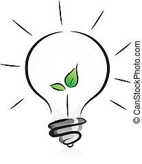 Eco-freundliche Glühbirne mit Samen